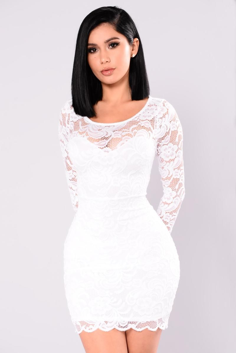 Long sleeve cocktail dress for wedding  Marnie Lace Dress  White  Wedding Guest Attire  Pinterest  Lace