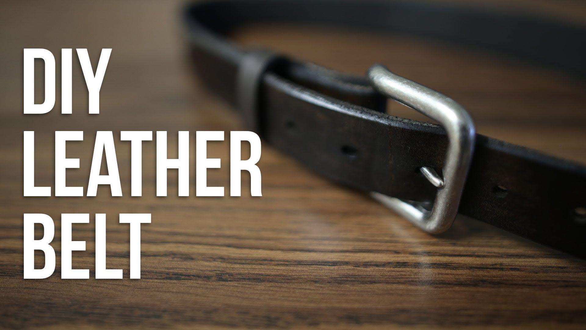 How To Make A Leather Belt - DIY Leather Belt