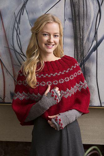 Ravelry: Fair Isle Poncho & Arm Warmers pattern by Diane Moyer ...