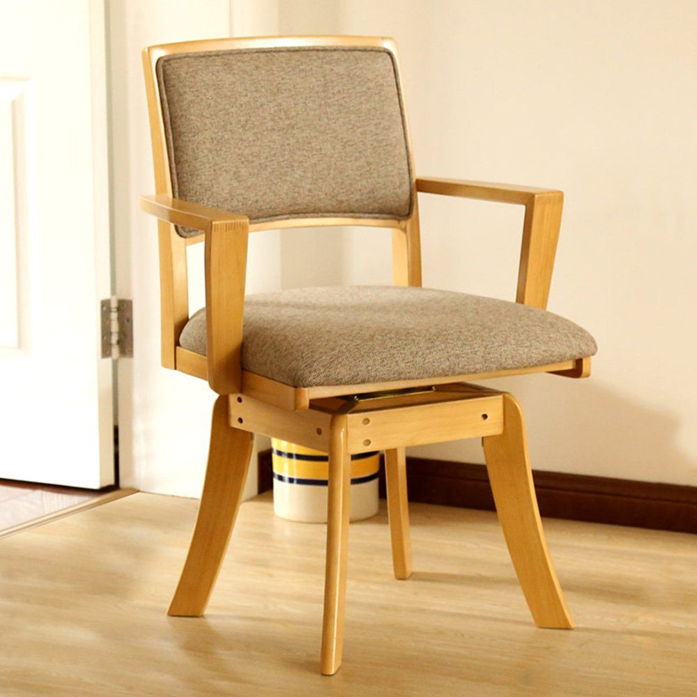 Chairs MEIDUO Armchair Rotary Solid Wood Dining Color ...