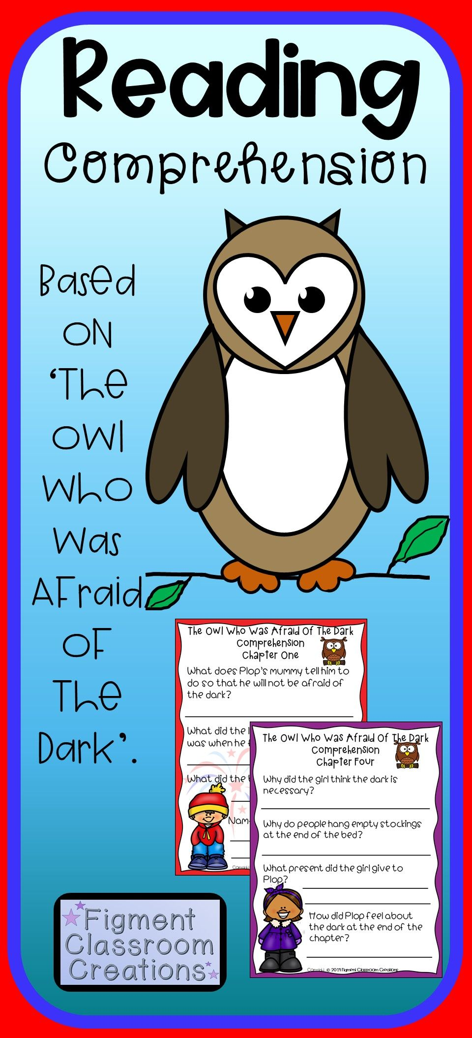 Reading Comprehension Connected To The Owl Who Was Afraid Of The Dark Reading Comprehension Questions Owl Who This Or That Questions [ 2109 x 960 Pixel ]