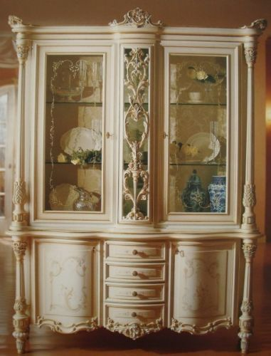barock vitrine in glas cabinet venetian barock vp9951