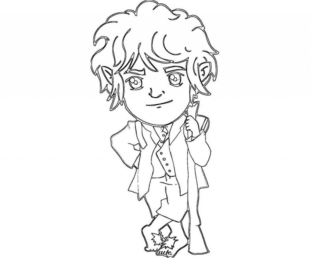 The Adventurous Bilbo Baggins From The Hobbit Coloring
