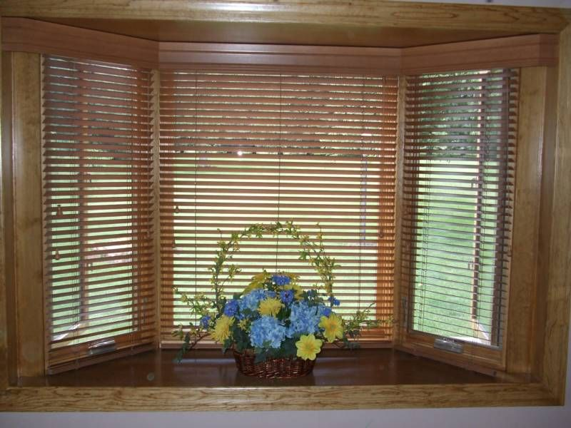 Wooden Blinds In Bay Window 2019
