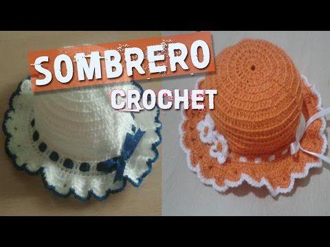 0595dbe2c1a12 Sombrerito o gorro para niña a crochet paso a paso (1 de 2) - YouTube