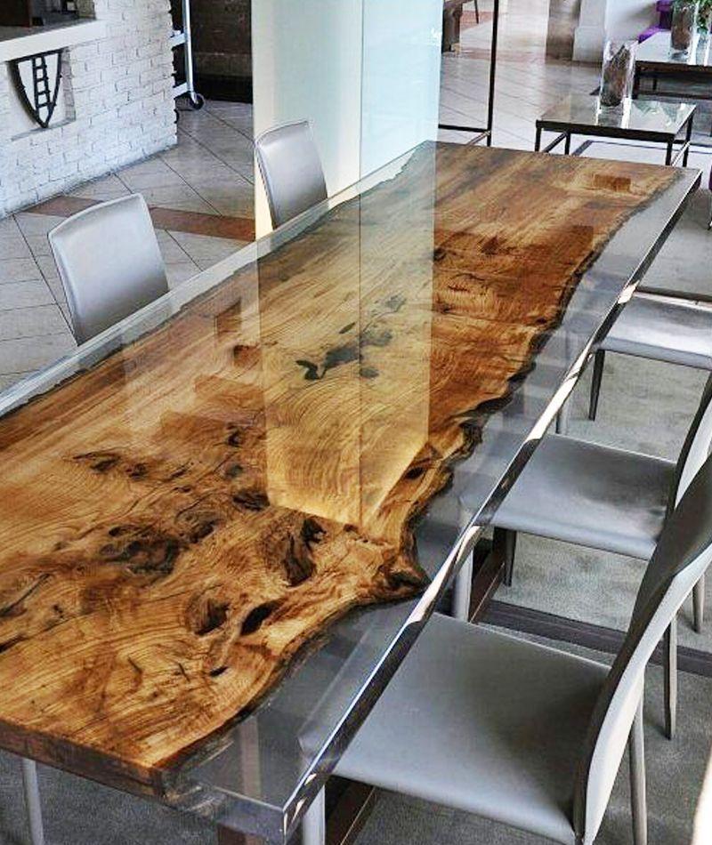 Photo of Quand la table en bois et résine fait fureur dans notre inté…