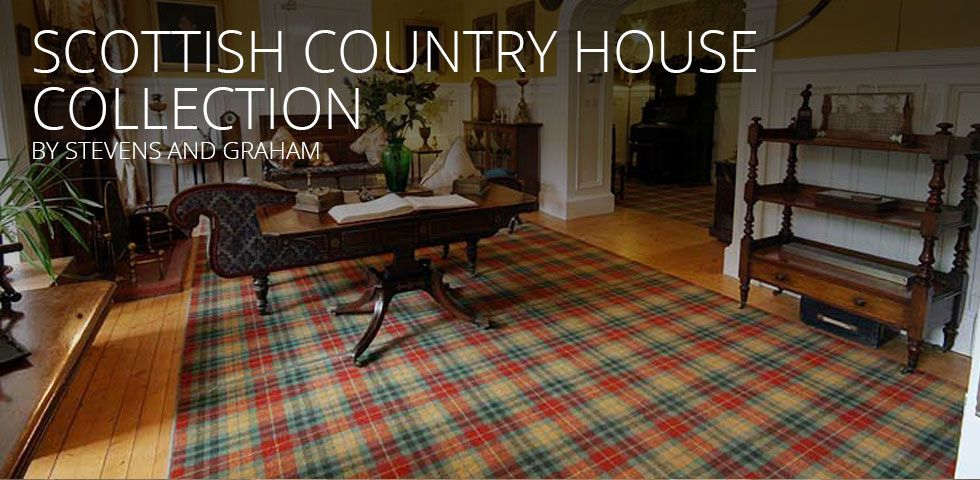 Tartan Carpets And Rugs By Stevens And Graham Tartan Carpet Rugs On Carpet Living Room Carpet