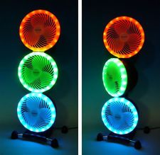Honeywell Triple Floor Standing Fan With Led Light Surrounds
