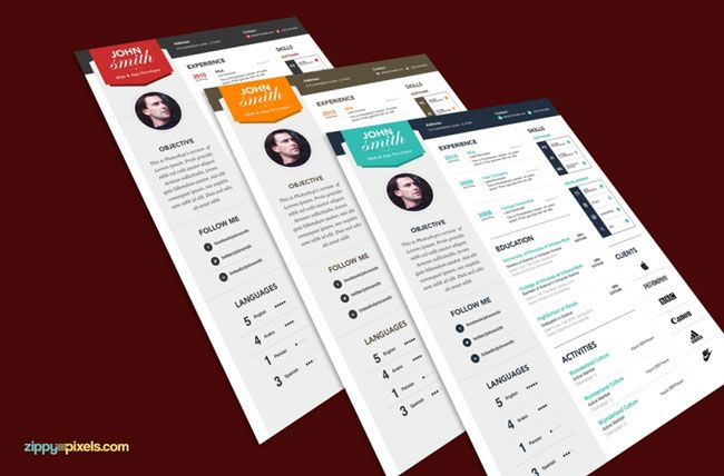 Unique Rsum And Cover Letter Templates  Graphic Design