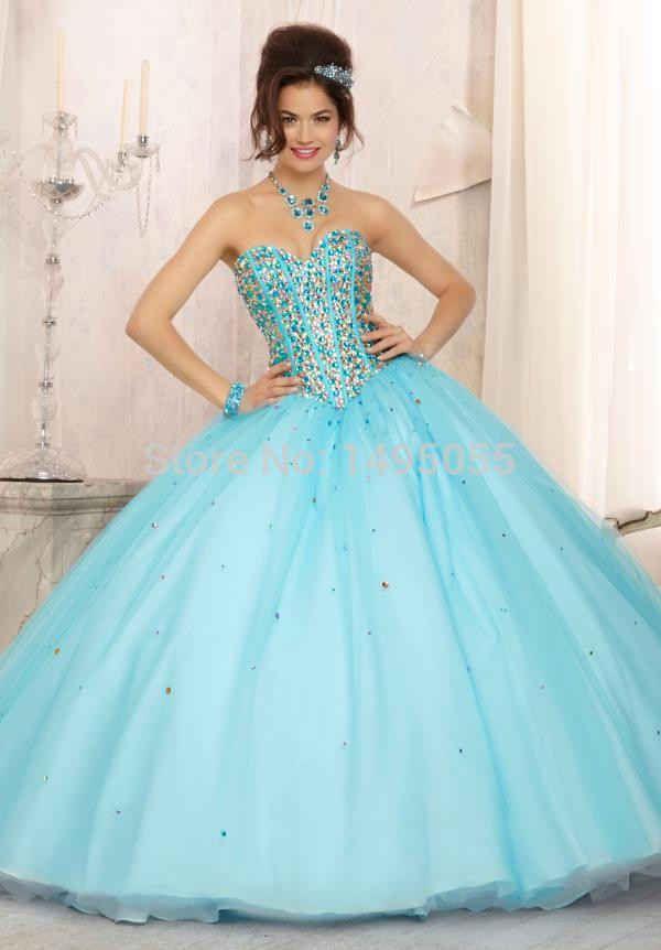 d4150e737 vestidos para 15 años de color azul turquesa (7)
