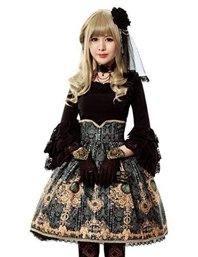 166faa3e8a5 Ten O clock Cinderella Rococo Lolita Steel Boned High Wai ...