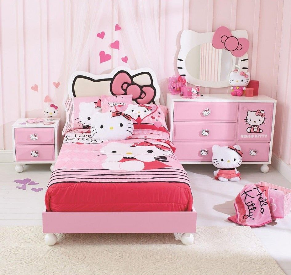 Cool Toddler Beds For Girls Hello Kitty Themed Hello Kitty Rooms