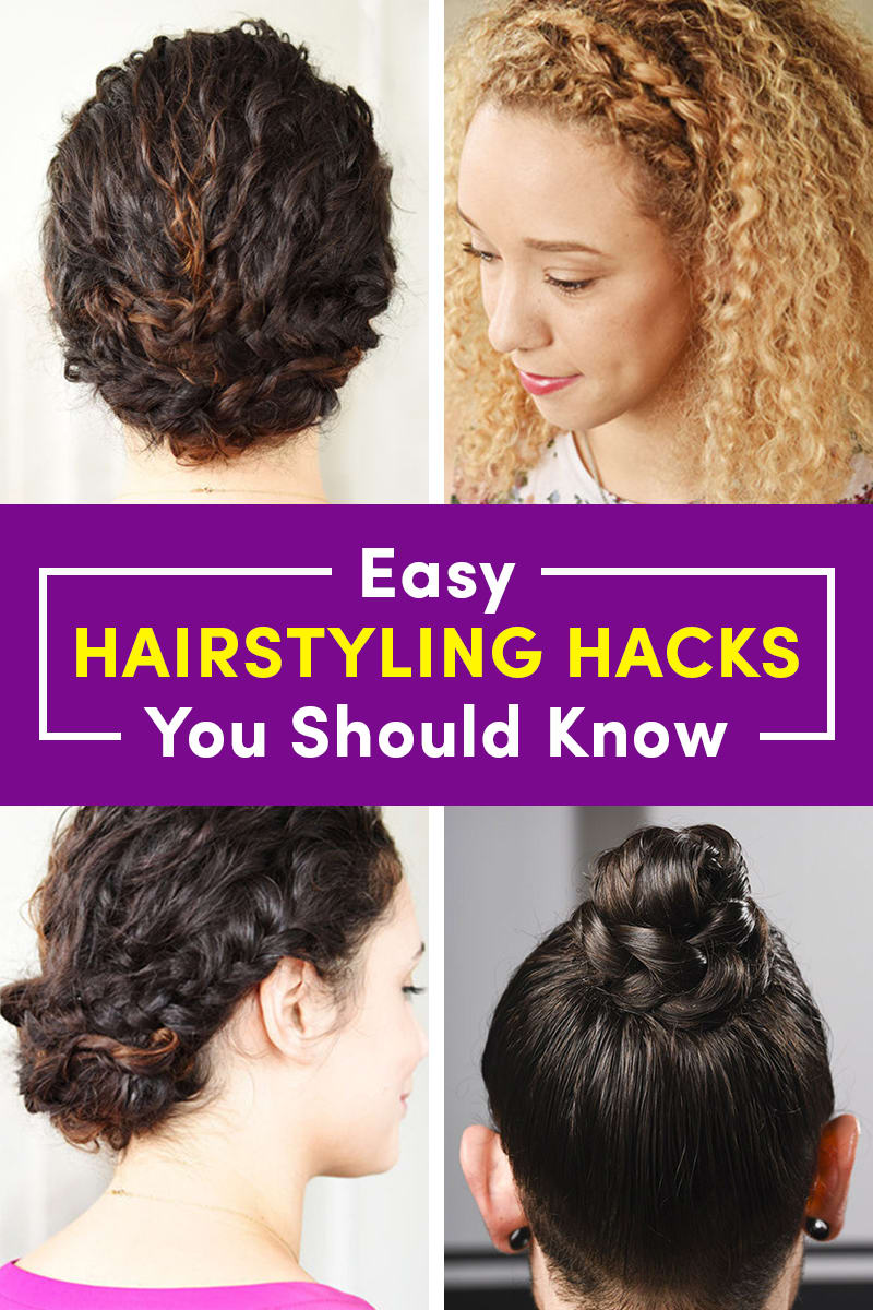 22 Little Hairstyling Hacks You Should Know By Now | Hair hacks, Easy hairstyles, Natural hair ...