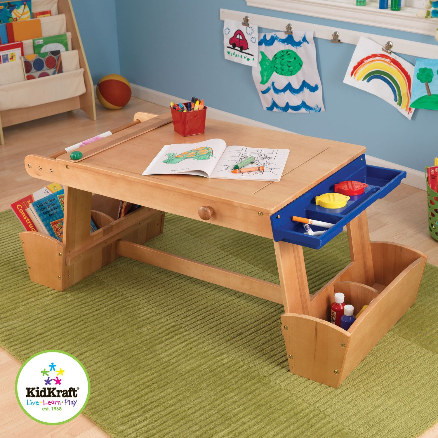 Drying Rack And Storage Kids Arts Crafts Table