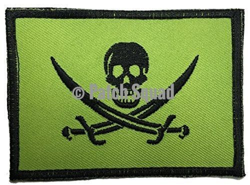 Patch Squad Men's Jolly Rogers Pirate Flag Embroidered Velcro Patch