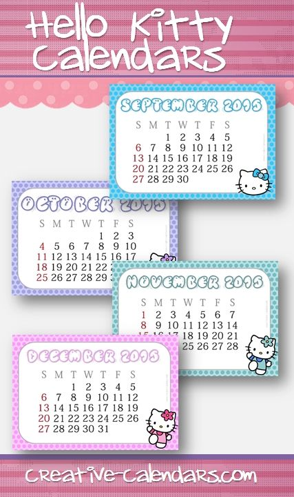 Free Printable Hello Kitty Calendars Hello Kitty Printables