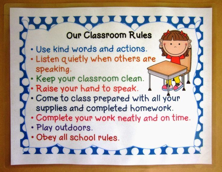 classroom rules elementary