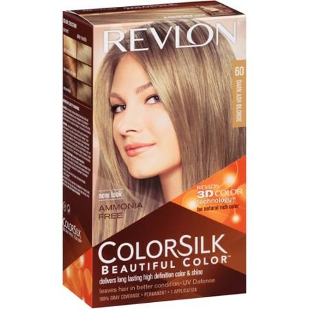 Revlon Colorsilk Beautiful Color Permanent Hair Color 60 Dark Ash