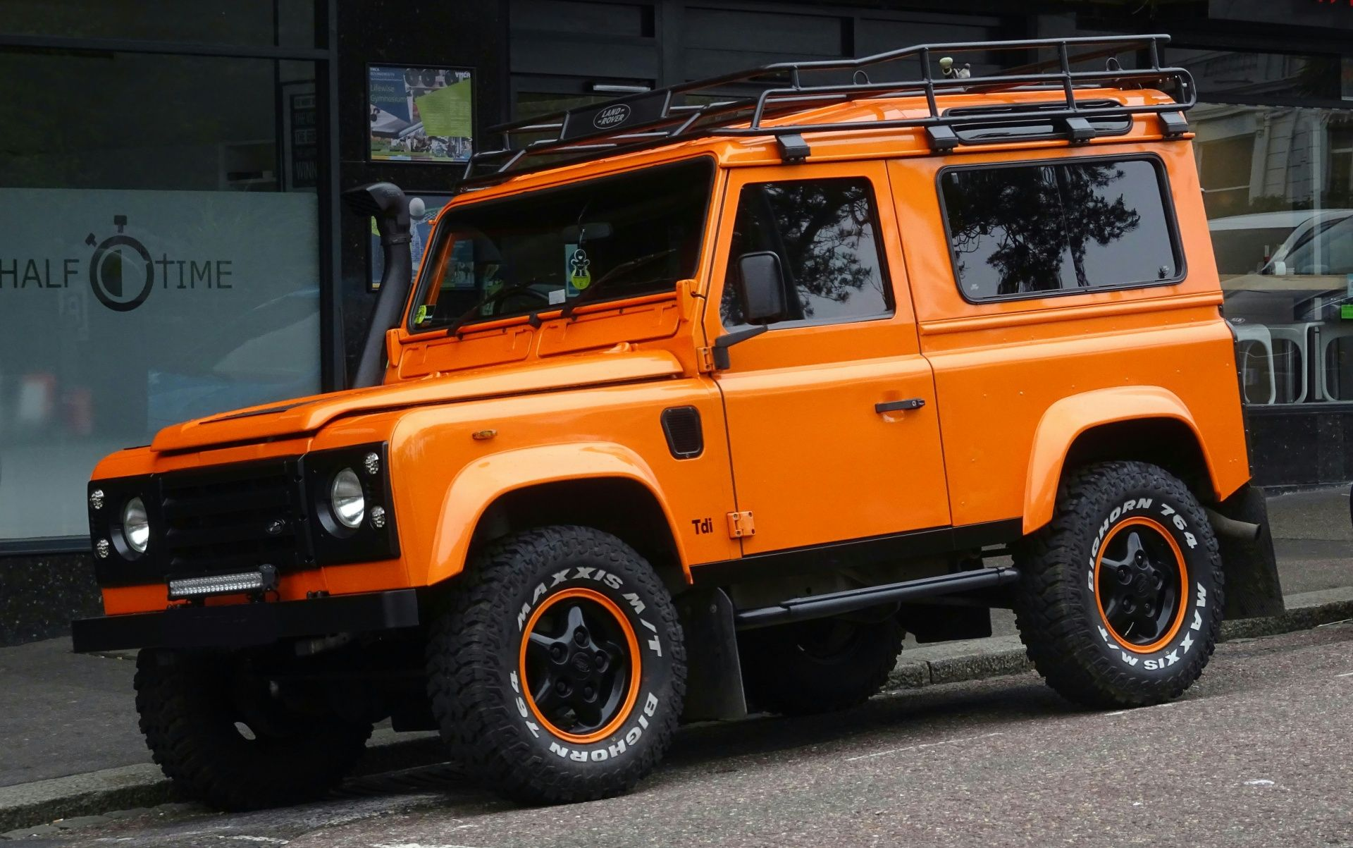 Orange Land Rover Defender Jeep Free Stock Photo Projets