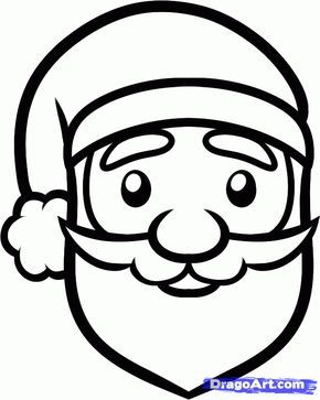 Face Of Santa Claus Coloring Pages   Free christmas coloring pages ...   363x290