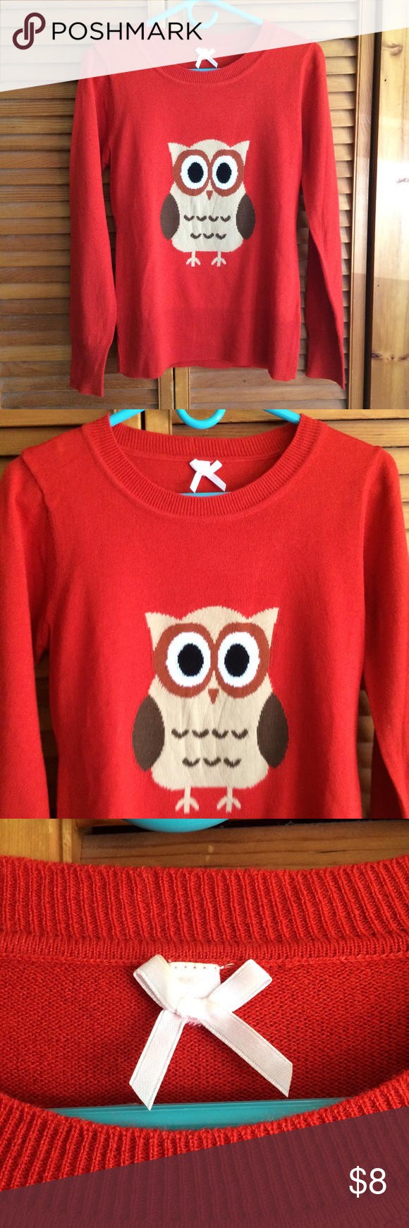Kohls Burnt Orange Owl Sweater | Owl sweater, Burnt orange and Owl