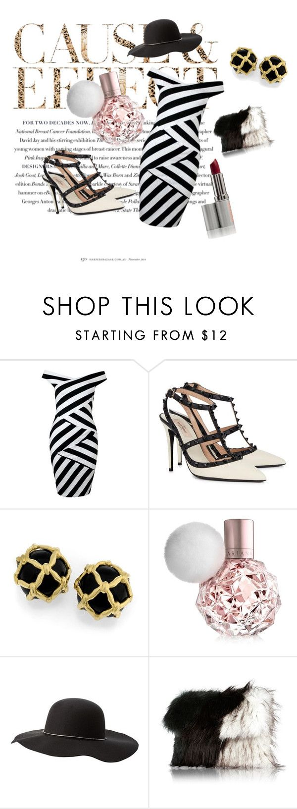 """Black & White"" by mysticsjy ❤ liked on Polyvore featuring Envi, Valentino, Charlotte Russe and River Island"