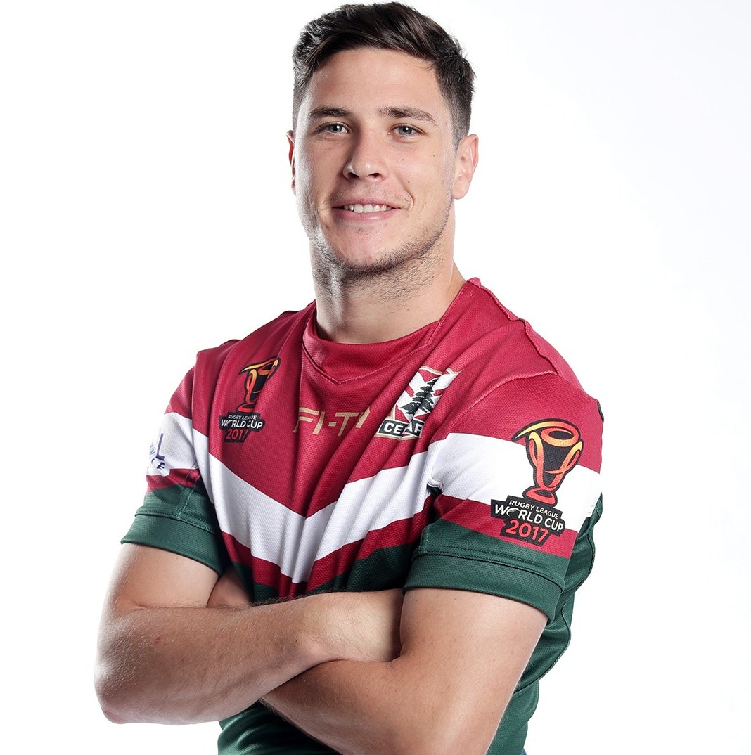 Footy Players Mitchell Moses And Michael Lichaa Playing For Footy Rugby Players Rugby League