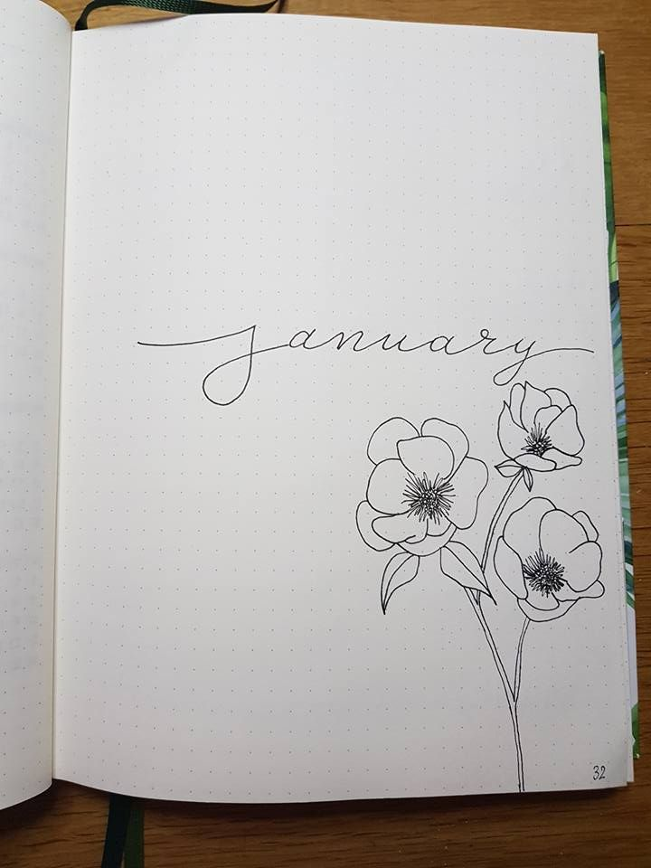 January monthly cover page #augustbulletjournal