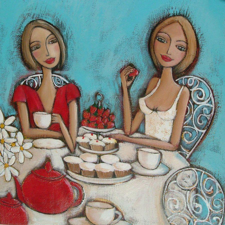 Картинка днем, две подруги открытки