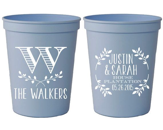 Wedding Favor Cups Personalized