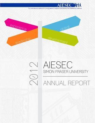 Aiesec Sfu Annual Report 2012