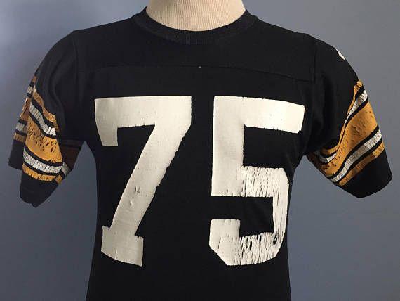 6fadcd21a26 70s 80s Vintage Pittsburgh Steelers Mean Joe Green #75 Jersey nfl football  T-Shirt - SMALL