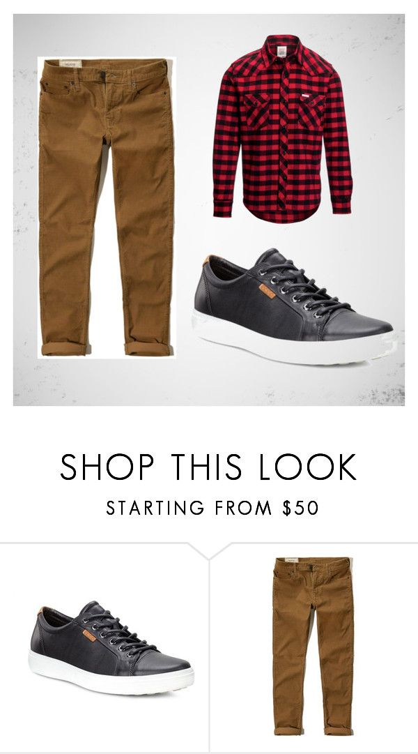 a9d88c186572 A buffalo plaid button down and ECCO sneakers are a stylish and classic  look.