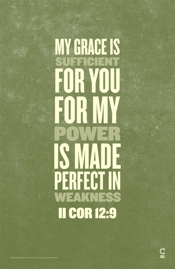 II Cor 12:9