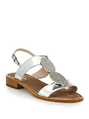 Kate Spade Saturday Metallic Leather Sandals free shipping shop offer clearance sale pre order cheap online cheap sale pictures for sale very cheap 4hsGea