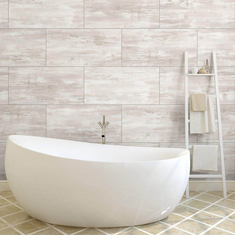 Dalle Pvc Adhesive White Concrete L 30 X L 60 Cm X Ep 3 Mm Grosfillex Bathroom Wall Panels Pvc Adhesive Pvc Wall