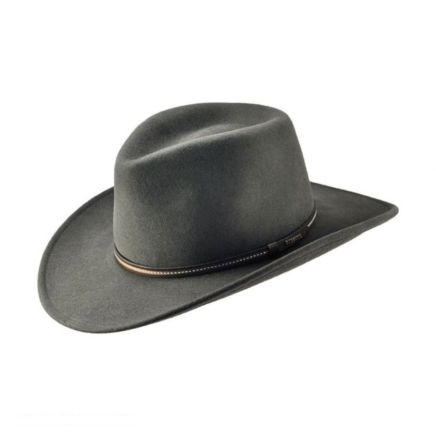Gallatin Crushable Wool Felt Outback Hat  1976f7918372