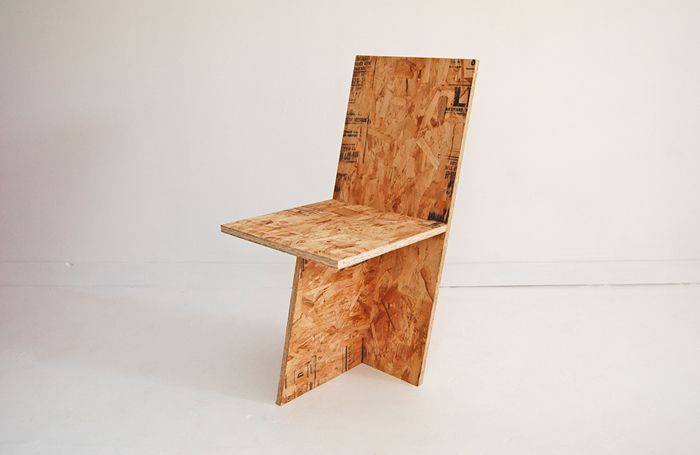 The + CHAIR Is Three Pieces Of Exterior Grade Plywood Or OSB Put Together  As Simply As Possible. Hand Made By ROLU.
