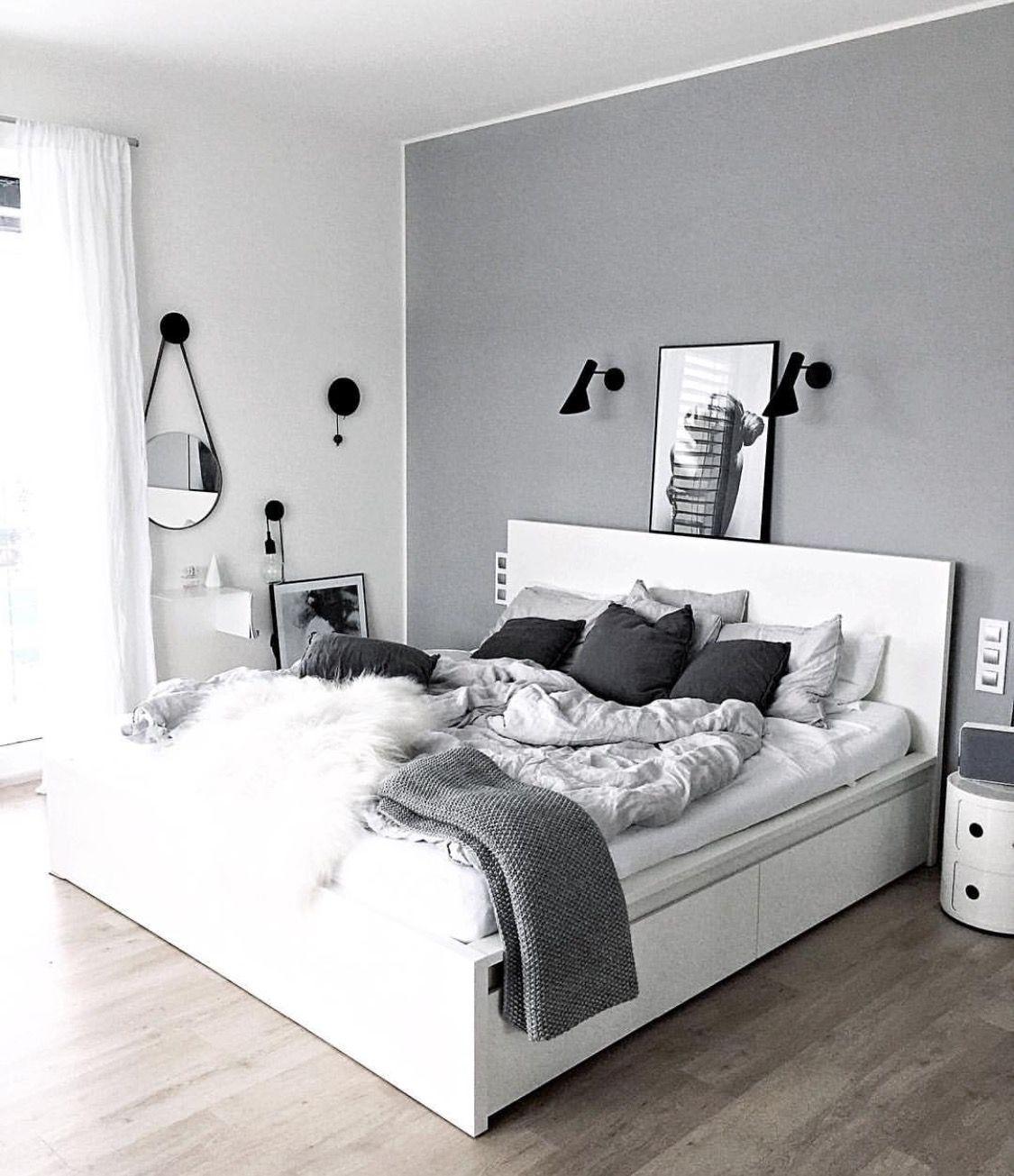 Hint Of Grey White Bedroom Decor Living Room Grey Room Decor Bedroom