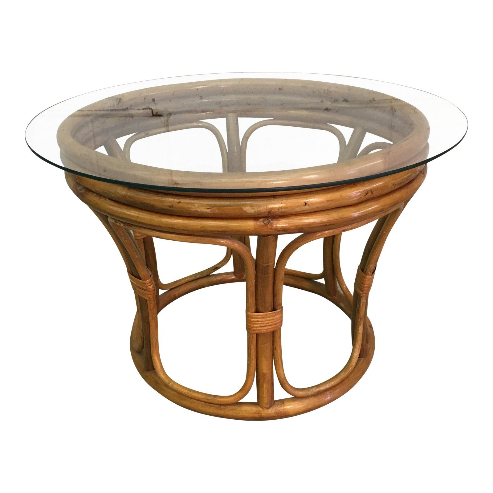 Vintage 1960s Round Glass Top And Rattan Coffee Table Base Is 24 W X 18 5 H Glass Has So Round Glass Coffee Table Minimalist Coffee Table Coffee Table X Base [ 1600 x 1600 Pixel ]