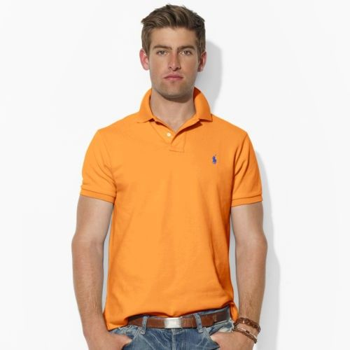ralph lauren vendita borse, Uomini - Custom-Fit Mesh Polo - Custom-Fit