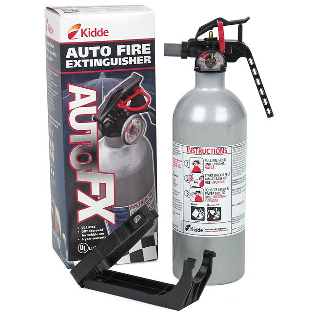 Kidde Auto Fx5 Ii Fire Extinguisher 5 Bc Fire Extinguishers Home Business Vehicle Fire Safety Fire Extinguisher Extinguisher Car Fire Extinguisher