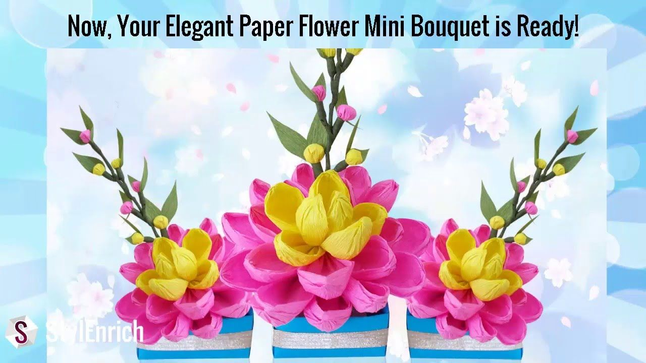 Pin by camelia just me on paper flowers pinterest easy paper easy paper crafts newspaper crafts diy paper diy crafts flower bouquet diy diy flower diy room decor home decor ideas crepe paper flowers izmirmasajfo