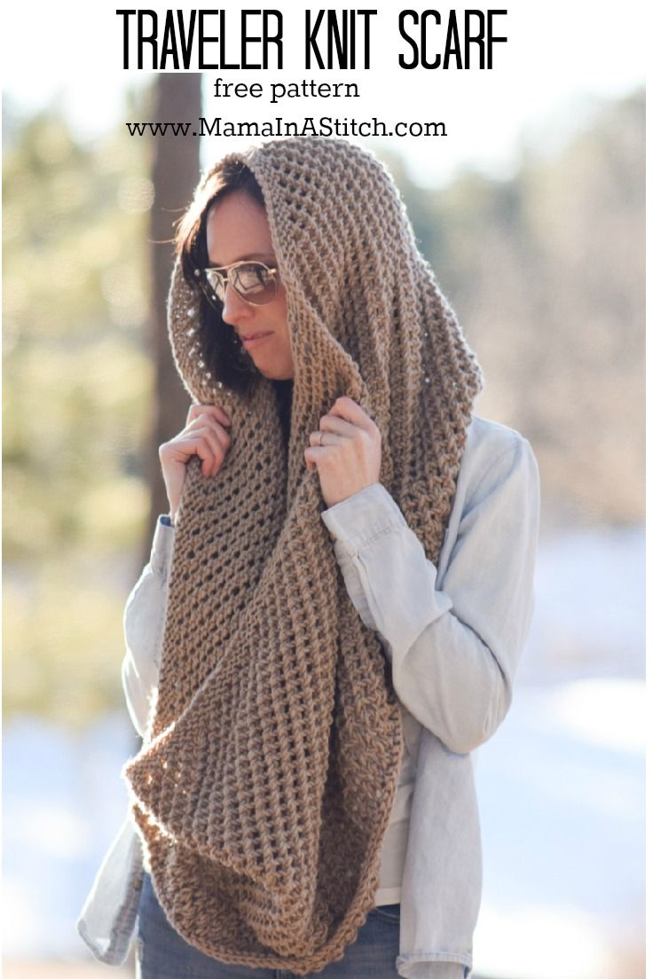 easy-free-knit-scarf-pattern-traveler | Knit | Pinterest | Knit ...