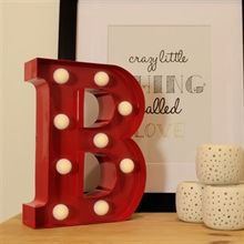 Red Metal Letters With Lights Metal Letter Lights Red  B  New Room Decor  Pinterest  Light