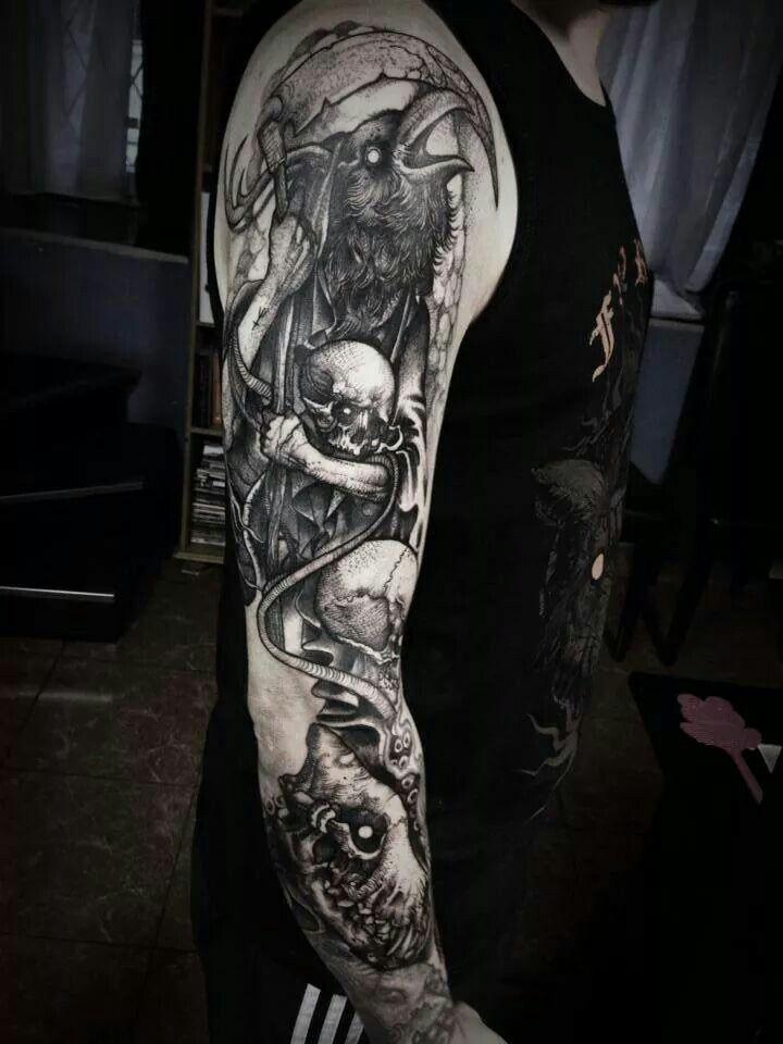 096a90cfb Dark tattoo All Tattoos, Unique Tattoos, Beautiful Tattoos, Sleeve Tattoos,  Body Art