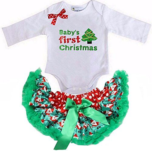 Kirei Sui Red Green Pettiskirt First Tree Bodysuit X-Small White -- Find out @ http://www.amazon.com/gp/product/B01LZU09IA/?tag=christmas3638-20&pde=290916070847