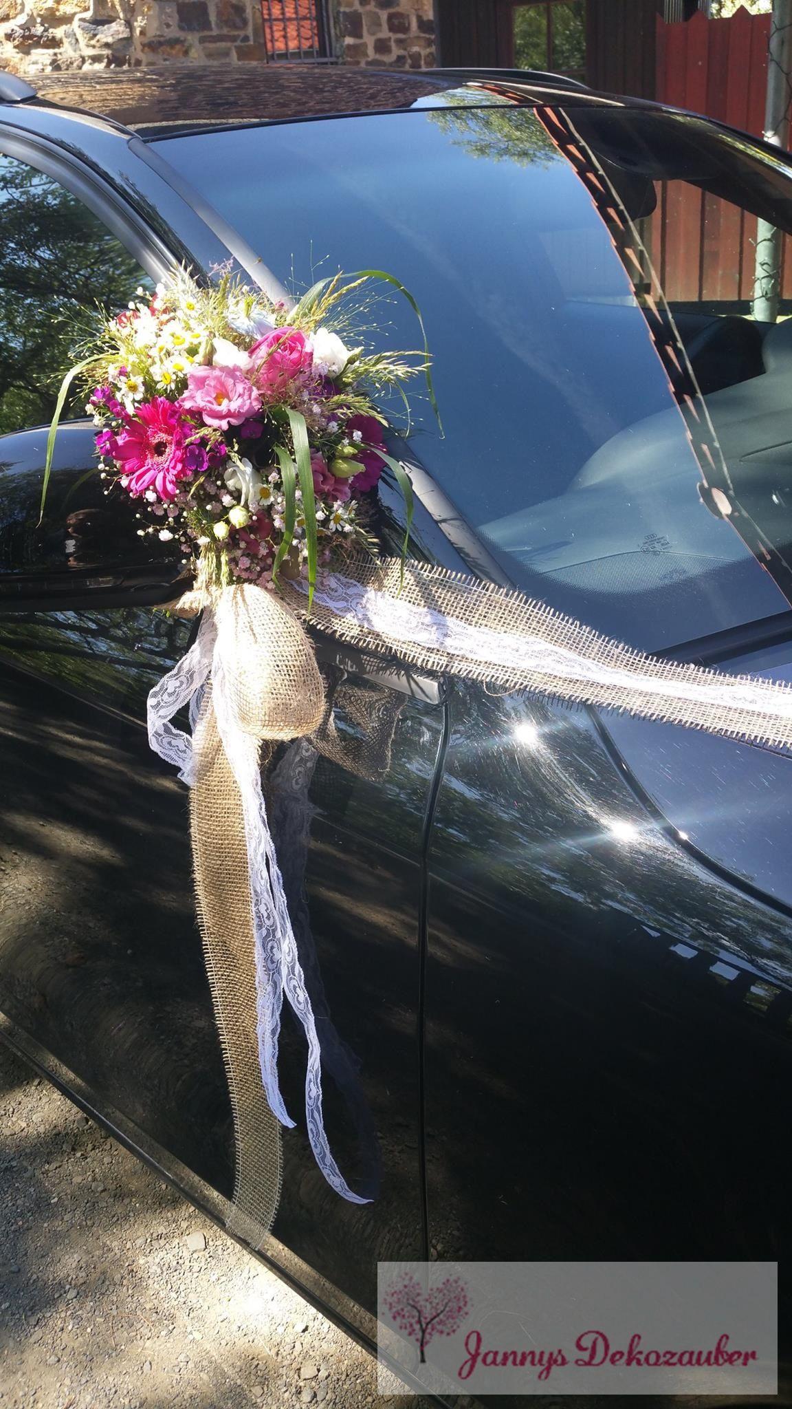 Spiegelstrausse Autoschmuck V Girlande Auto Vintage Blumen Jute