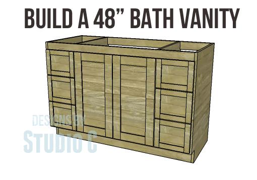 Diy Woodworking Plans To Build A 48 Bath Vanity Designs By Studio C Woodworking Plans Diy Diy Furniture Plans Diy Bathroom Vanity