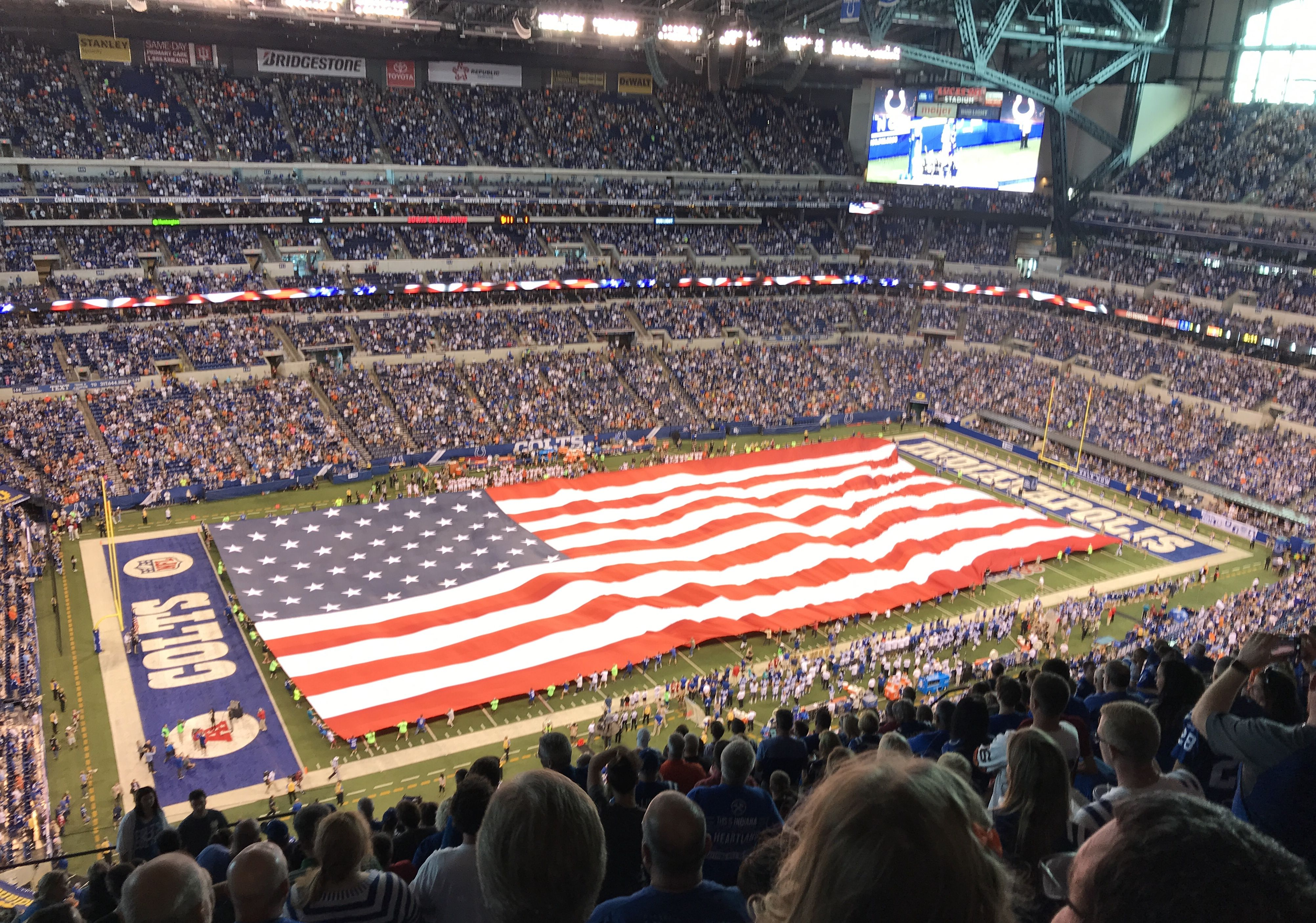 Flag at Colts vs. Browns game 2017 Browns game, Games
